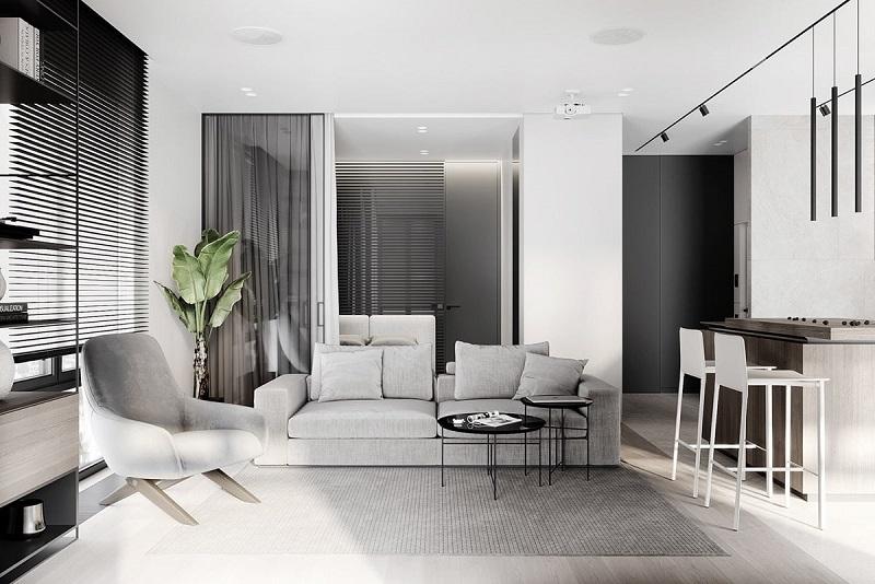 Trang trí nội thất phòng khách nhỏ không gian mở