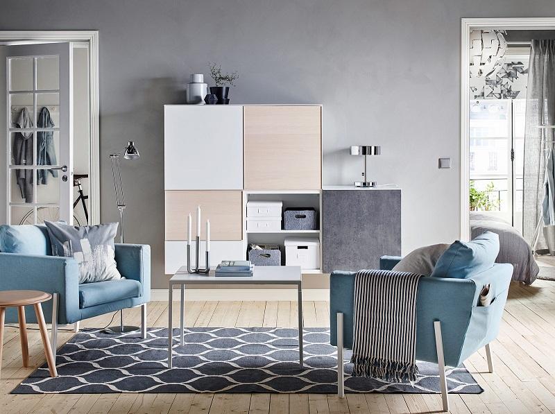 Trang trí nội thất phòng khách nhỏ phong cách tối giản