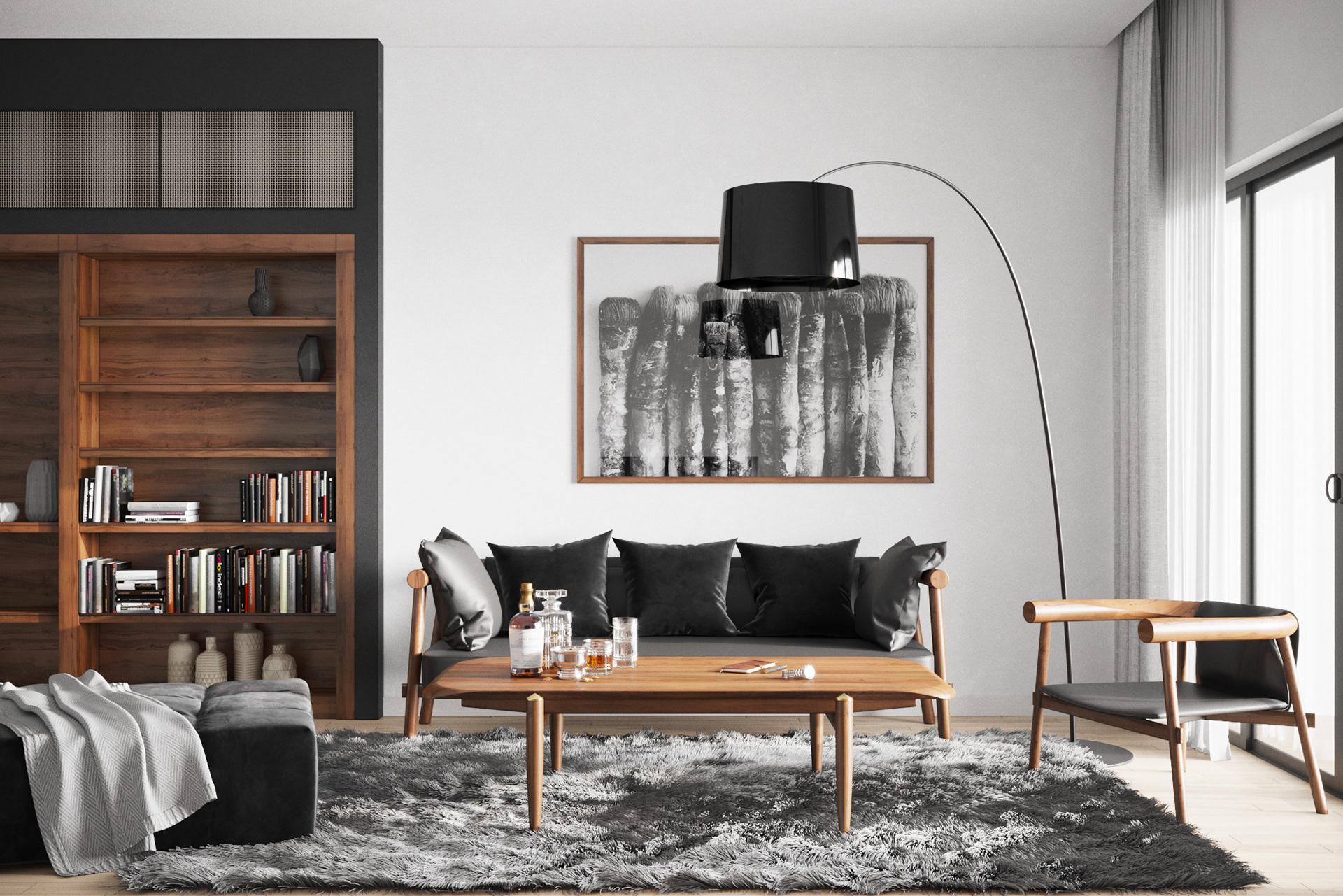 Các mẫu phòng khách đẹp phong cách Japandi ấn tượng
