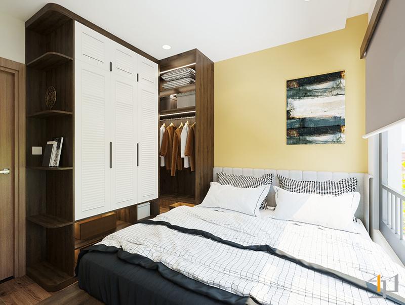 Tủ quần áo góc chữ L cho phòng ngủ Master