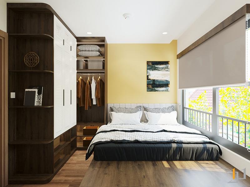 Thiết kế cửa sổ cung cấp ánh sáng cho phòng ngủ Master
