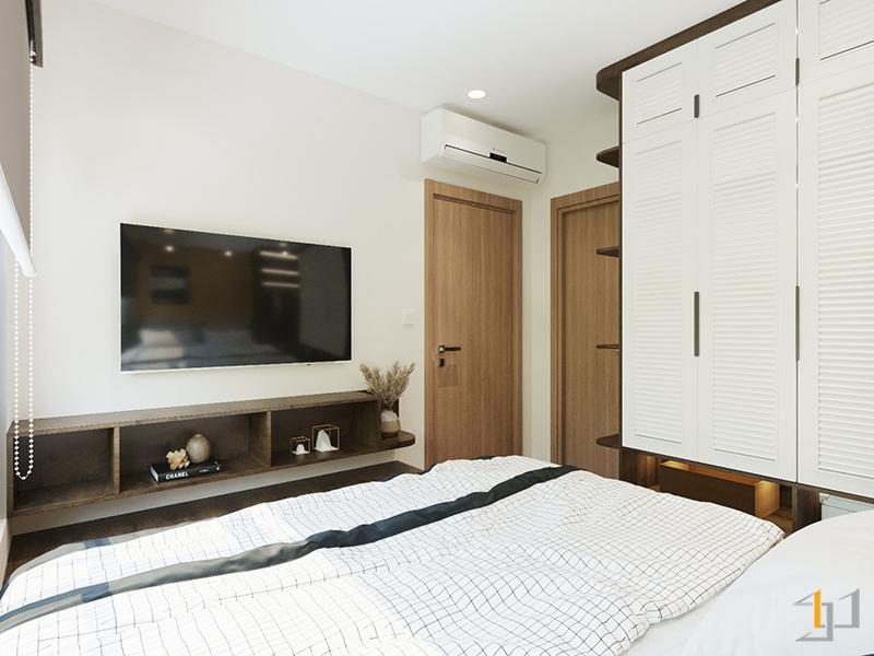 Kệ Tivi gỗ hiện đại cho phòng ngủ Master