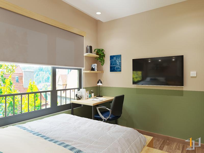 Góc học tập và giải trí trong phòng ngủ trẻ em