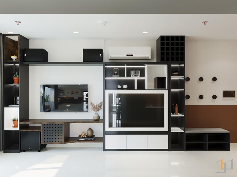 Kệ Tivi và tủ trang trí cho sảnh phòng khách