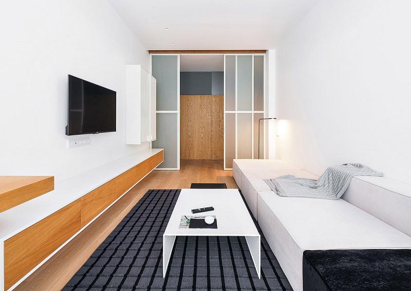 Phòng khách 12m2 15m2 16m2 có các hình dáng khác nhau