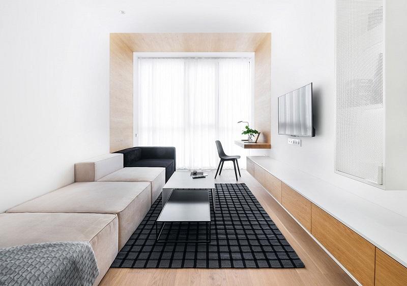Sắp đặt nội thất hợp lý cho phòng khách 12m2 trở lên