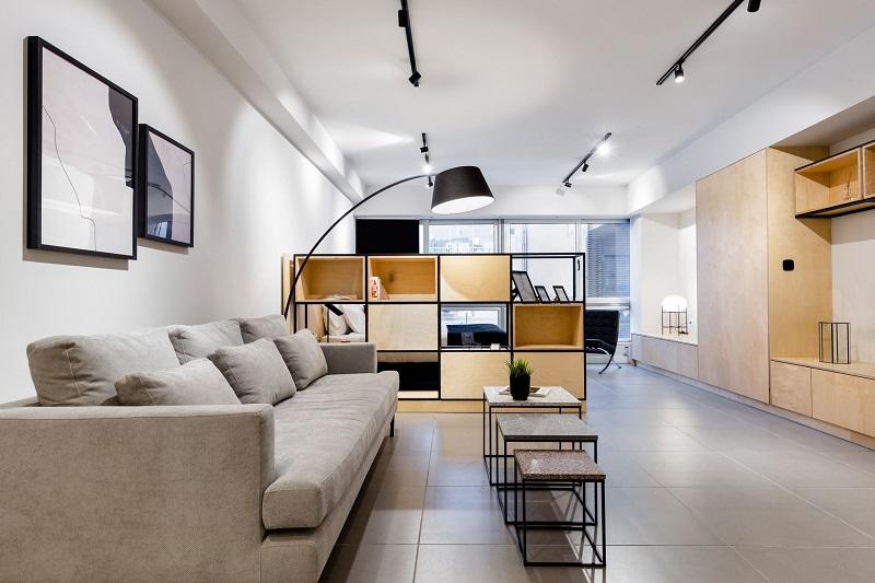 Ánh sáng là yếu tố quan trọng tạo nên không gian phòng khách nhà ống đẹp