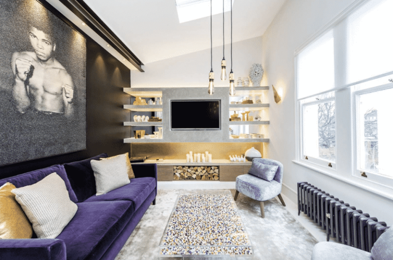Mẫu thiết kế phòng khách nhà ống đẹp với nội thất cao cấp