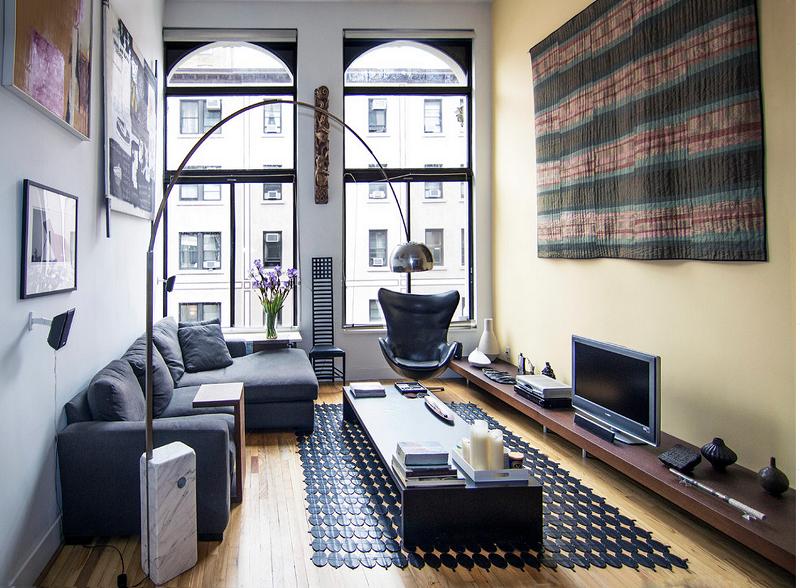 Sự duyên dáng trong mẫu thiết kế phòng khách nhà ống hiện đại