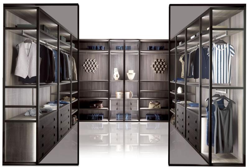 Phòng thay đồ hiện đại được thiết kế theo lối mở