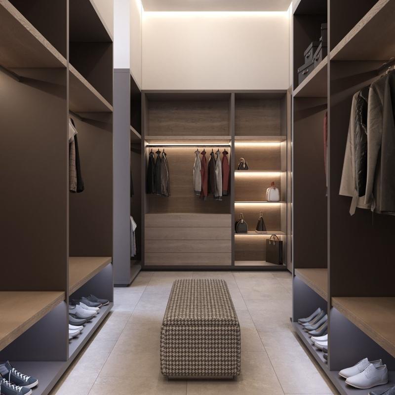 Thiết kế phòng thay đồ hiện đại đẹp