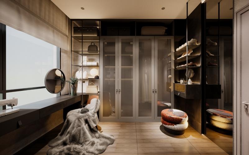 Thiết kế phòng quần áo nhà chung cư