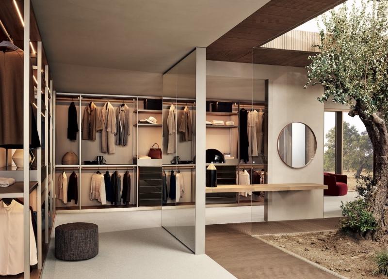 Thiết kế phòng thay đồ tân cổ điển trong không gian mở
